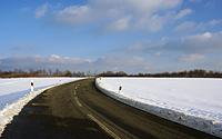 Winterliche Landstraße bei Simmerath-Huppenbroich