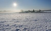 Ein Wintermorgen mit Bodennebel im Eifelvorland