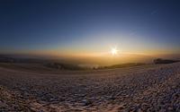 Sonnenaufgang über dem Rursee am Hechelscheider Hövel