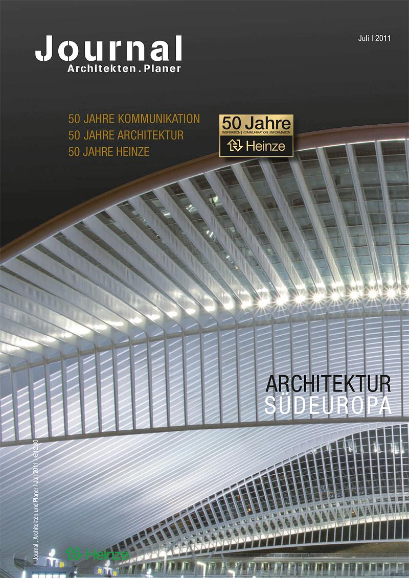 50 Jahre Heinze ArchitekturJournal Titelseite