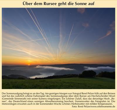 25.9.2011 Super Sonntag Sonnenaufgang