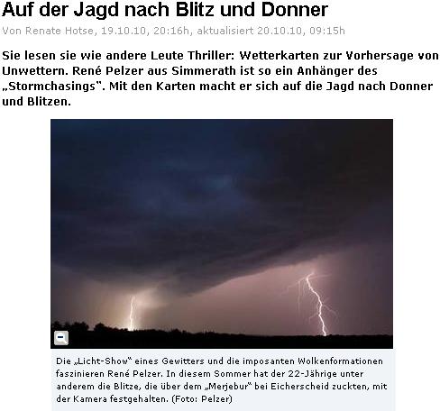 Kölnische Rundschau: Auf der Jagd nach Blitz und Donner