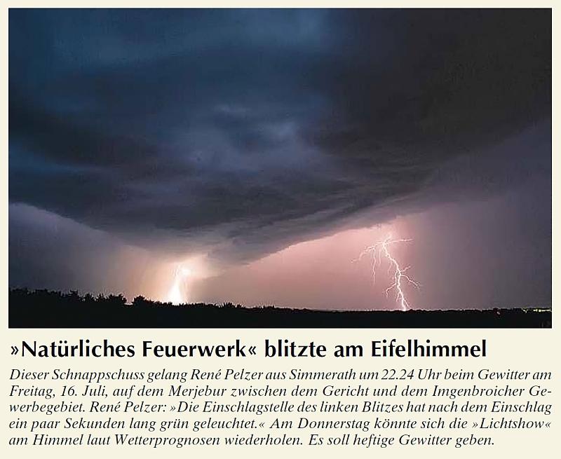 Wochenspiegel Lightshow am 16.7.2010