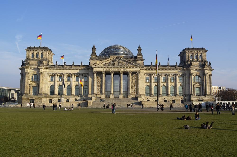 Das Reichstagsgebäude am Nachmittag